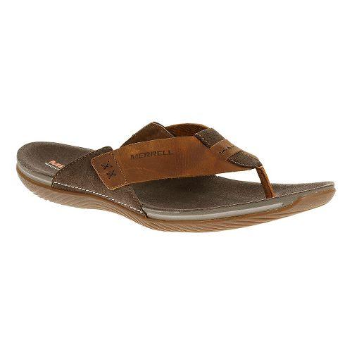 Mens Merrell Bask Thong Sandals Shoe - Clay 11