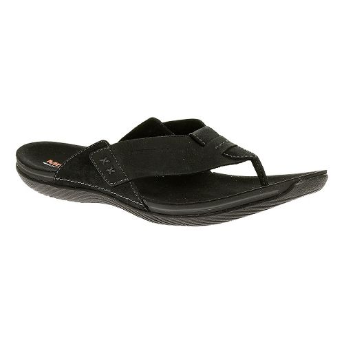 Mens Merrell Bask Thong Sandals Shoe - Black 11