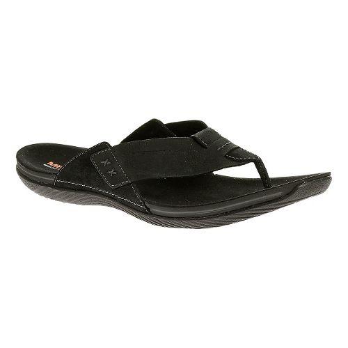 Mens Merrell Bask Thong Sandals Shoe - Black 12
