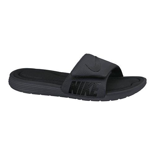 Mens Nike Solarsoft Comfort Slide Sandals Shoe - Black 14
