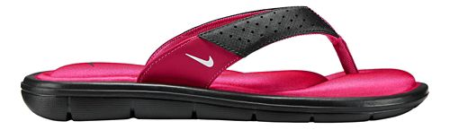 Womens Nike Comfort Thong Sandals Shoe - Black/Pink 6