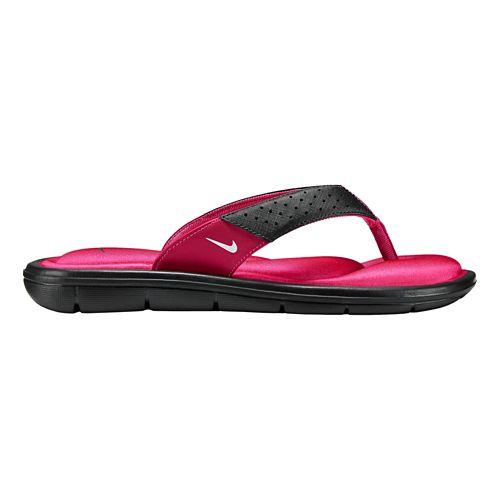 Womens Nike Comfort Thong Sandals Shoe - Black/Pink 9