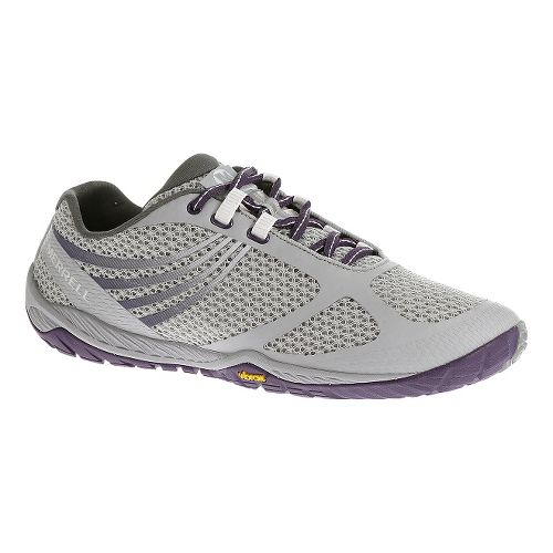 Womens Merrell Pace Glove 3 Trail Running Shoe - Light Grey 9