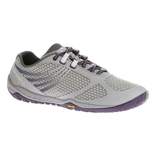 Womens Merrell Pace Glove 3 Trail Running Shoe - Light Grey 9.5