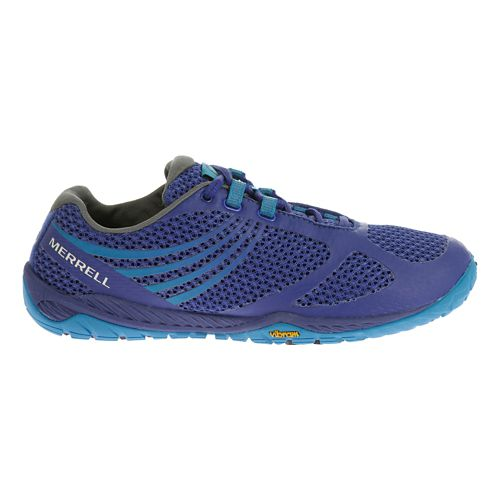 Womens Merrell Pace Glove 3 Trail Running Shoe - Royal Blue/Blue 5
