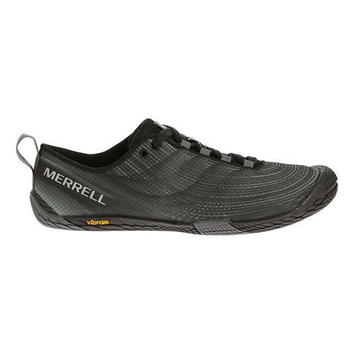 Womens Merrell Vapor Glove 2 Trail Running Shoe - Black/Castle Rock 9