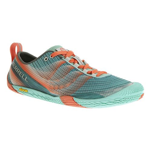 Womens Merrell Vapor Glove 2 Trail Running Shoe - Sea Blue 7