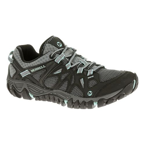 Womens Merrell All Out Blaze Aero Sport Hiking Shoe - Black 8.5