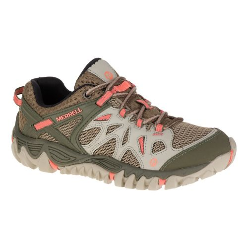 Womens Merrell All Out Blaze Aero Sport Hiking Shoe - Beige 5.5