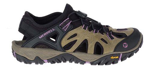 Womens Merrell All Out Blaze Sieve Sandals Shoe - Dark Brown 8