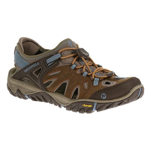 Womens Merrell All Out Blaze Sieve Sandals Shoe - Brown Sugar 10