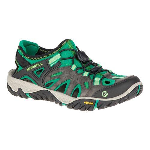 Womens Merrell All Out Blaze Sieve Sandals Shoe - Bright Green 11