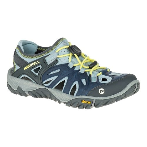 Womens Merrell All Out Blaze Sieve Sandals Shoe - Blue 5