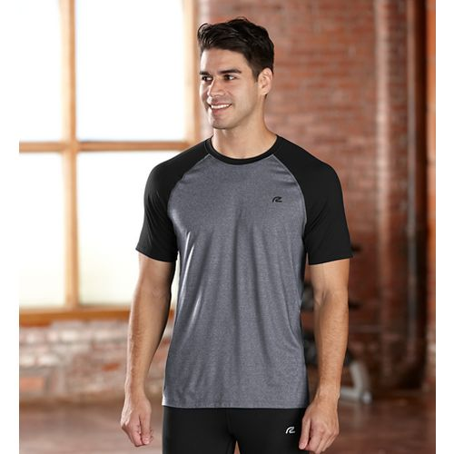 Mens R-Gear Base Runner Short Sleeve Technical Top - Charcoal/Black S