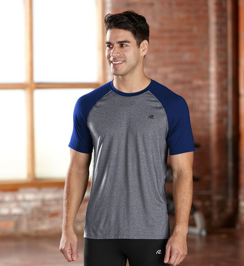 Mens R-Gear Base Runner Short Sleeve Technical Top - Charcoal/Midnight Blue S
