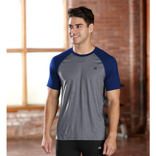 Mens R-Gear Base Runner Short Sleeve Technical Top - Charcoal/Midnight Bl S