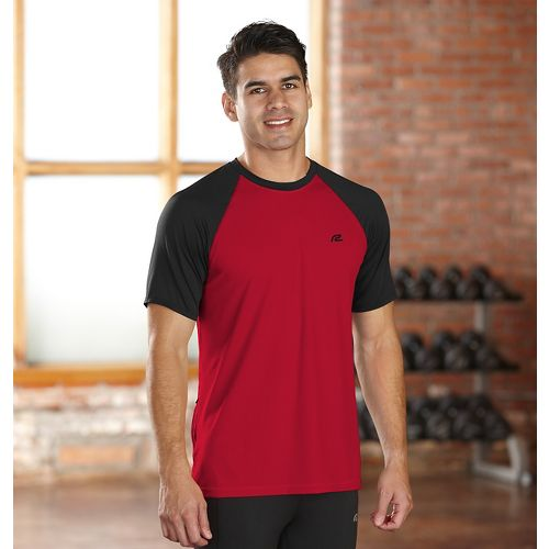 Mens R-Gear Base Runner Short Sleeve Technical Top - Chili Pepper/Black XL