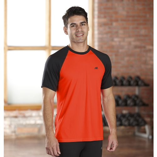 Mens R-Gear Base Runner Short Sleeve Technical Top - Flame/Black XL