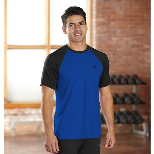 Mens R-Gear Base Runner Short Sleeve Technical Top - Charcoal/Midnight Blue L