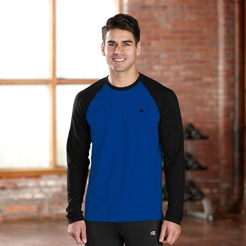 Mens R-Gear Base Runner Long Sleeve No Zip Technical Tops - Cobalt/Black XL