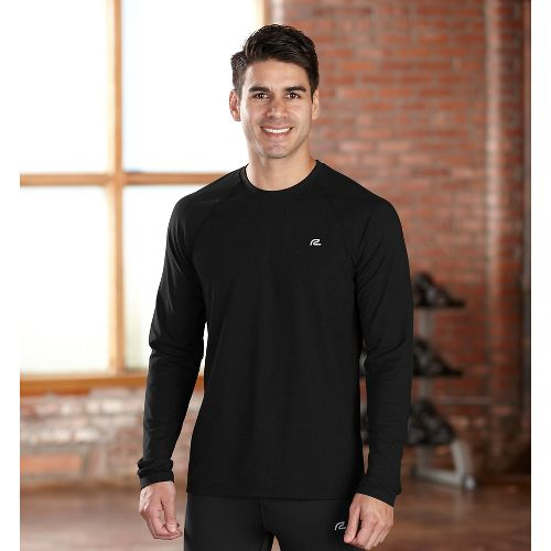 Mens R-Gear Perfect Run Long Sleeve No Zip Technical Tops - Black XXL