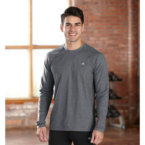 Mens R-Gear Perfect Run Long Sleeve No Zip Technical Tops - Heather Charcoal S