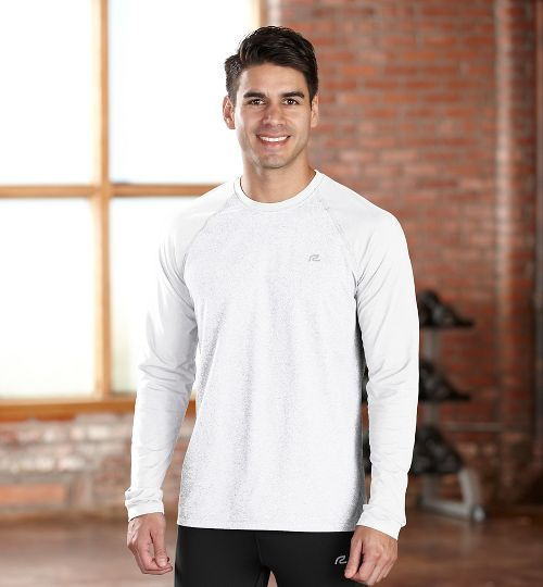 Mens R-Gear Perfect Run Long Sleeve No Zip Technical Tops - White XXL