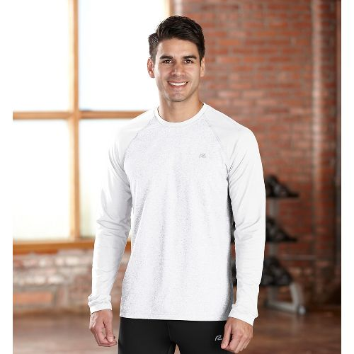 Mens R-Gear Perfect Run Long Sleeve No Zip Technical Tops - White S