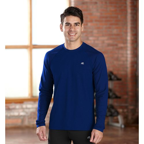 Mens R-Gear Perfect Run Long Sleeve No Zip Technical Tops - Midnight Blue S