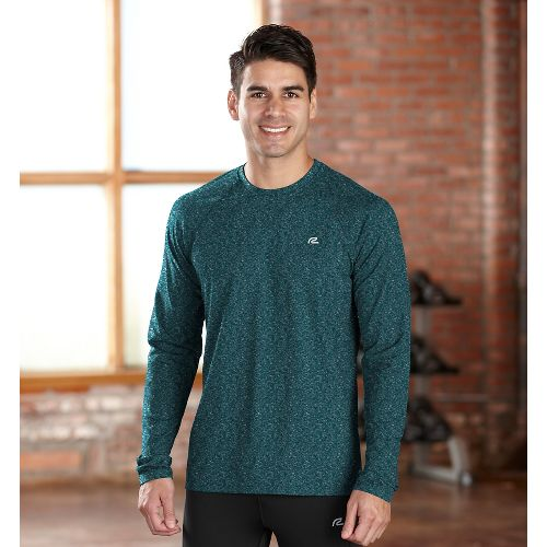 Mens R-Gear Perfect Run Long Sleeve No Zip Technical Tops - Heather Deep Teal S ...