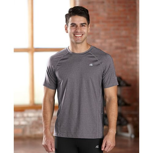 Mens R-Gear Training Day Short Sleeve Technical Tops - Heather Charcoal XL