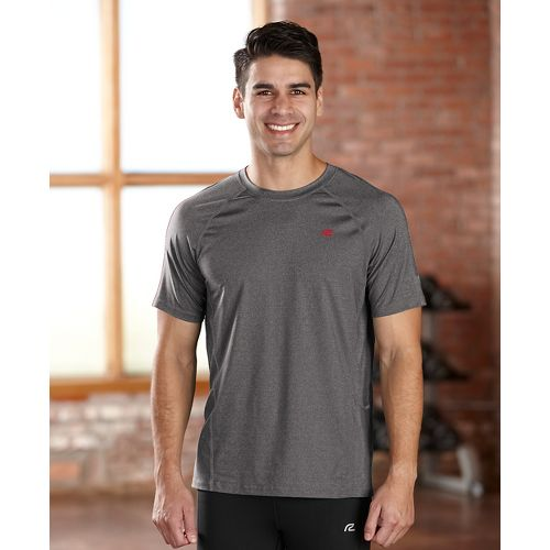 Mens R-Gear Training Day Short Sleeve Technical Tops - Heather Charcoal S