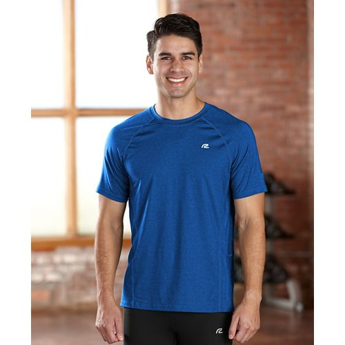 Mens R-Gear Training Day Short Sleeve Technical Tops - Heather Cobalt L