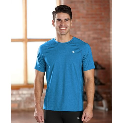 Mens R-Gear Training Day Short Sleeve Technical Tops - Heather Atomic Blue M