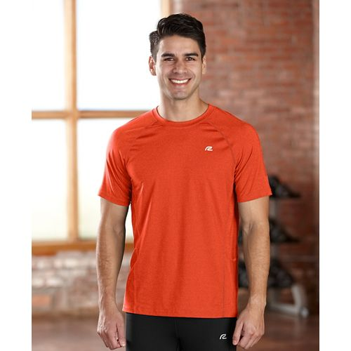 Mens R-Gear Training Day Short Sleeve Technical Tops - Heather Flame L