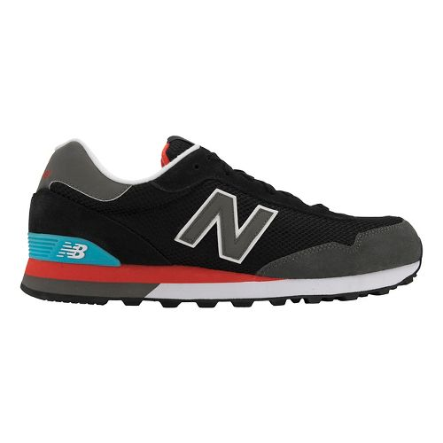 Mens New Balance 515 Casual Shoe - Black/Grey 11.5
