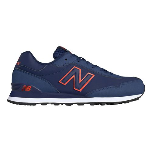 Mens New Balance 515 Casual Shoe - Navy/Orange 11.5