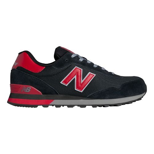 Mens New Balance 515 Casual Shoe - Black/Red 11.5