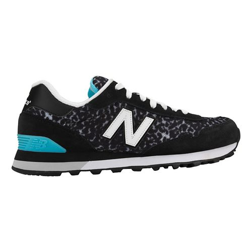 Womens New Balance 515 Casual Shoe - Black/Blue 10