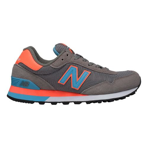 Womens New Balance 515 Casual Shoe - Grey/Coral 11
