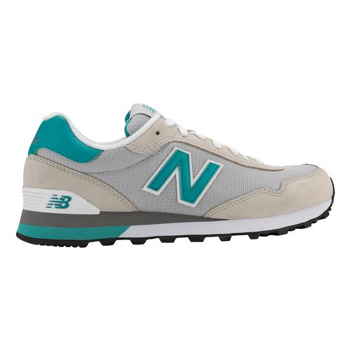 Womens New Balance 515 Casual Shoe - Silver/Green 7.5