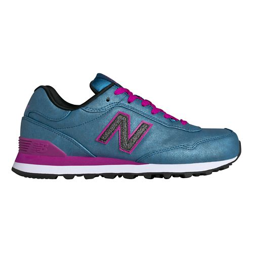 Womens New Balance 515 Casual Shoe - Blue/Pink 10