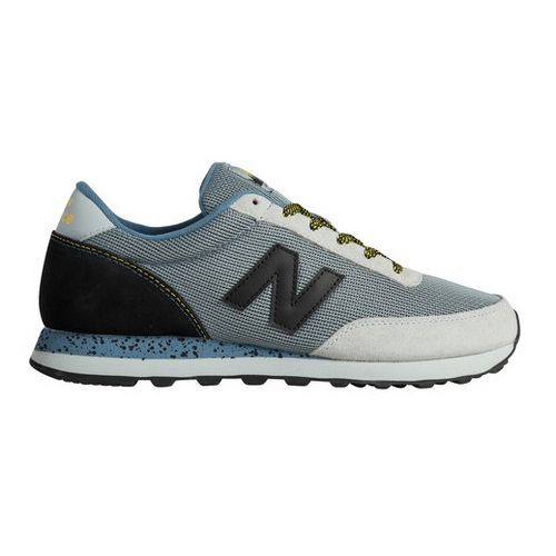 Mens New Balance 501 Casual Shoe - Grey/Orange 8