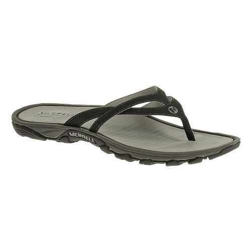 Womens Merrell Enoki Flip Sandals Shoe - Black 5