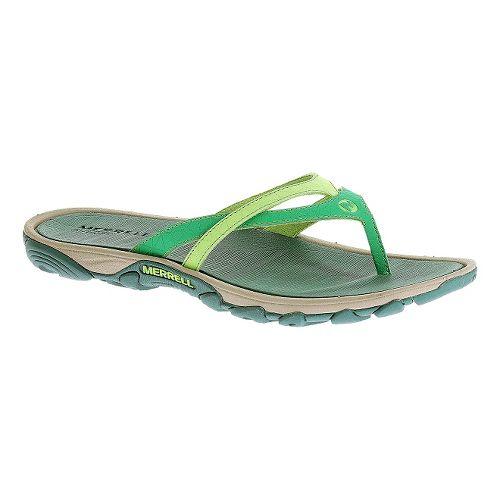 Womens Merrell Enoki Flip Sandals Shoe - Dynasty Green 6