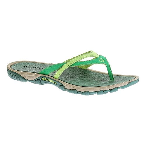 Womens Merrell Enoki Flip Sandals Shoe - Dynasty Green 7