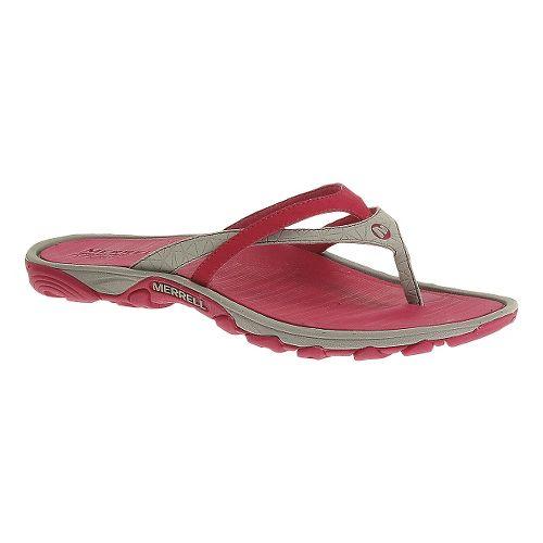 Womens Merrell Enoki Flip Sandals Shoe - Rose Red 5