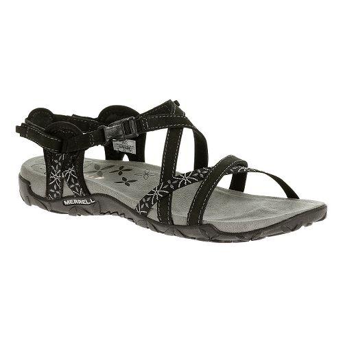 Womens Merrell Terran Lattice Sandals Shoe - Black 8