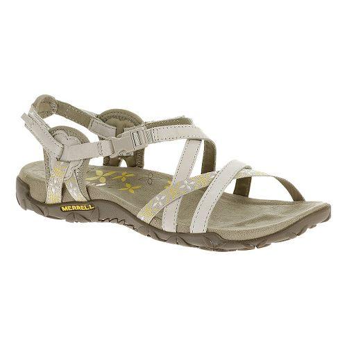 Womens Merrell Terran Lattice Sandals Shoe - Silver Lining 5