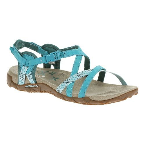 Womens Merrell Terran Lattice Sandals Shoe - Algiers Blue 5